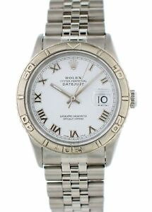 Rolex-Oyster-Perpetual-Datejust-Turn-O-039-Graph-16264-Mens-Watch