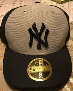 dd1f82263fc NEW YORK YANKEES NEW ERA 59FIFTY MLB LOW PROFILE NAVY   GRAY FITTED ...