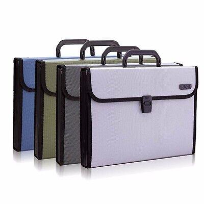 12 Pockets A4 Office Expanding File Folder Organizer Accordion Buckle Closure