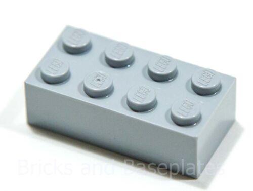 Ladrillos Lego 25 X Gris Claro 2x4 Pasador de conjuntos nuevos enviado en una Bolsa Sellada Claro