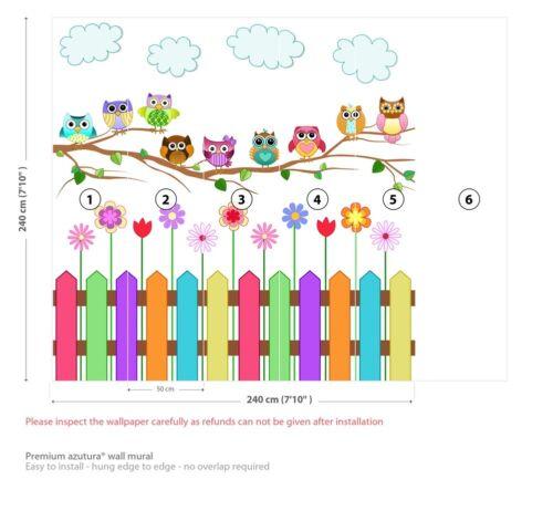 Tapeten Werkzeuge Zubehor Colourful Owls Nursery Wall Mural Wallpaper Ws 42610 Fototapeten