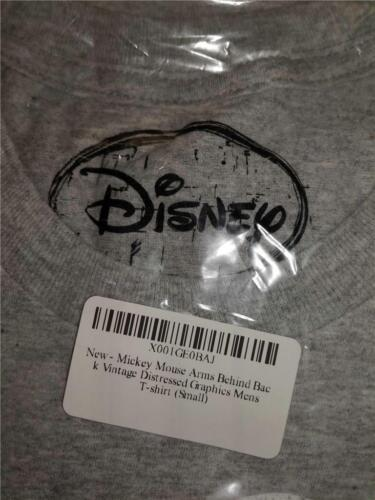 New Mickey Mouse Disney Adult Unisex Mens S-M-XL-2XL-3XL Licensed Gray Shirt