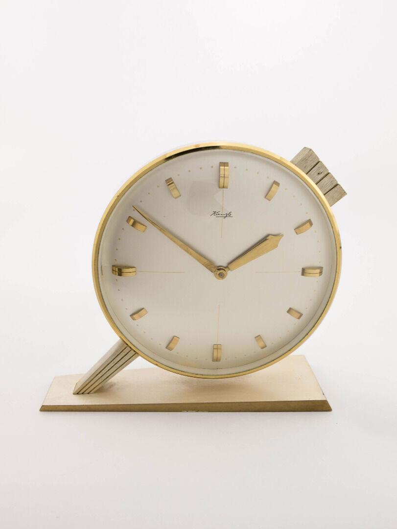 KIENZLE Stiluhr mit 8-Tagewerk, Art Déco Bauhaus Stil, 1930er Jahre