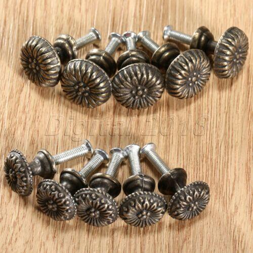 1//5Pcs S//L Retro Jewelry Box Round Pull Handle Cupboard Dresser Cabinet Knobs