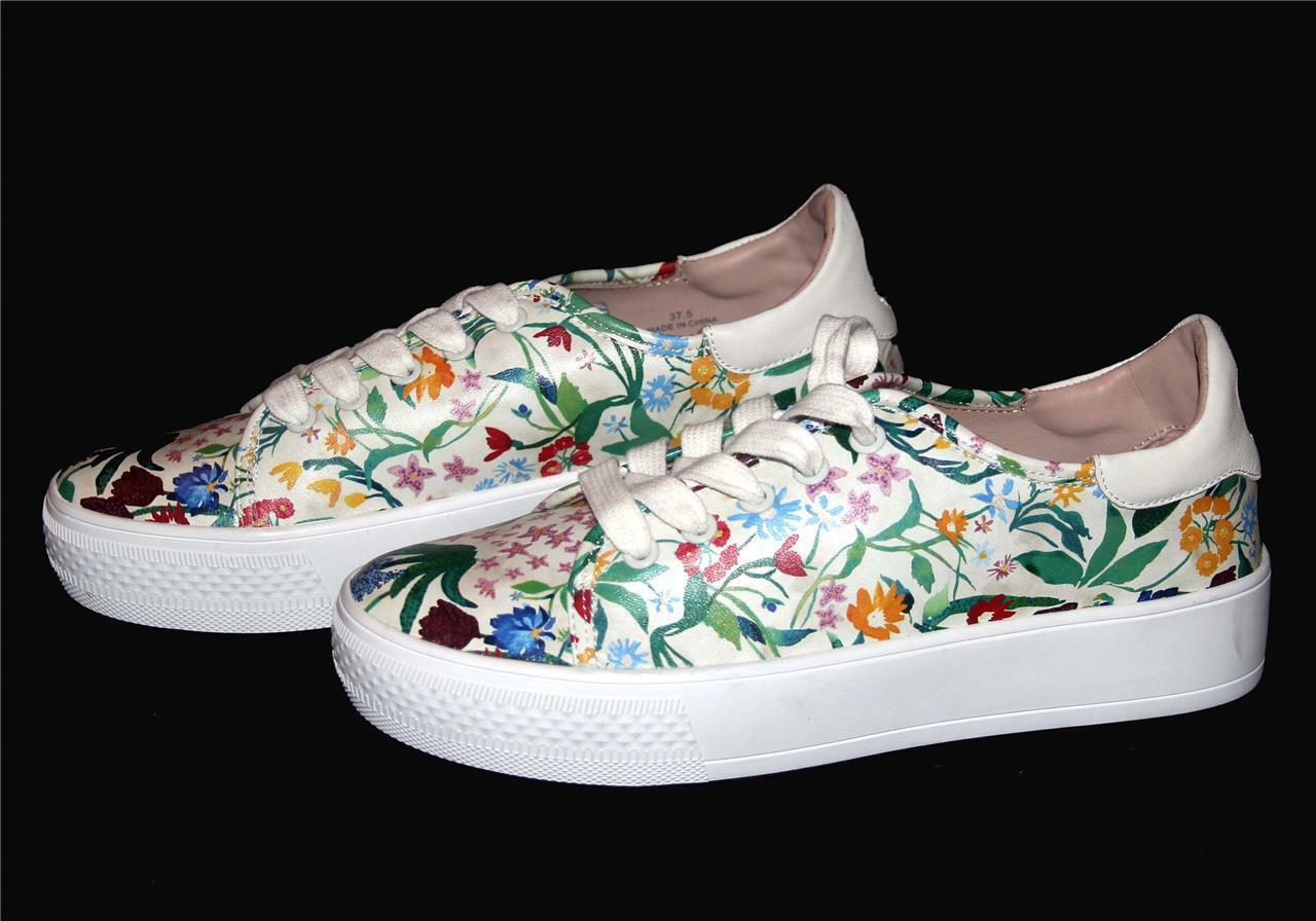 ALICE + OLIVIA Pemton Floral Nappa Leather Platform sautope da ginnastica Wms NWT SOLD OUT