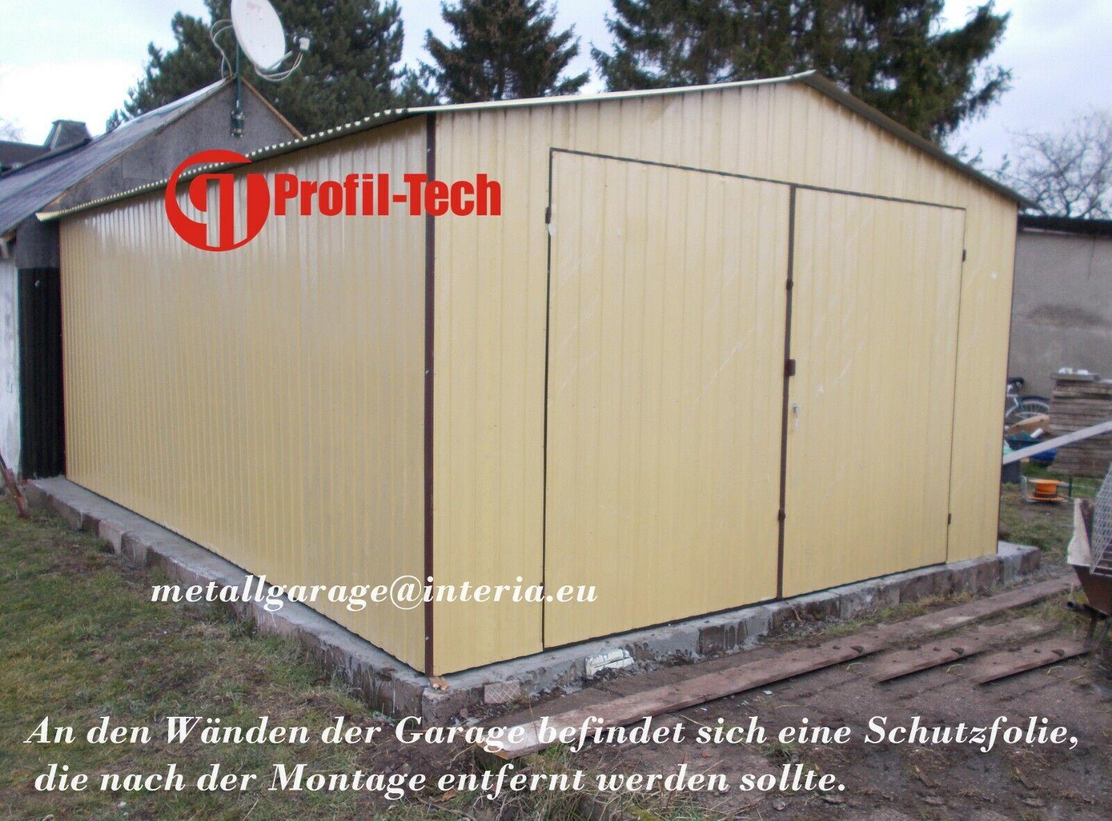 3,5x7 Blechgarage Fertiggarage Metallgarage LAGERRAUM GERÄTESCHUPPEN garage