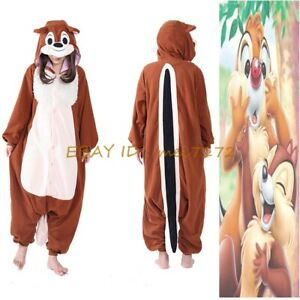 Cute-Disney-Chip-and-Dale-Kigurumi-Pyjamas-Cosplay-Costume-Adult-Sleepwear