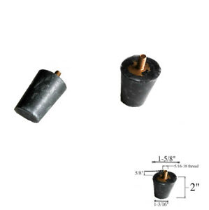 "5//16/""-18 Male Threaded Rubber Conical 1 1//2/"" Bumper Threaded=3//4/"" anti-vibration"