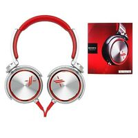 Sony Mdr-x05/s On-ear Headphones Stfor Iphone/ipad Mdrx05 Red/silver Genuine
