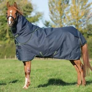 Weidedecke Horseware Amigo Pony Bravo-12 Turnout Plus Medium 250g Navy/&Green
