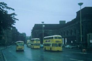 PHOTO-NORTHUMBERLAND-OUTSIDE-NEWCASTLE-CENTRAL-STATION-1969