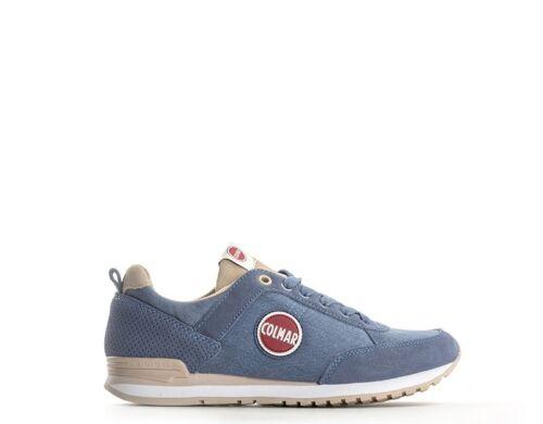 Traviscolors tessuto Sneakers Donna Scamosciato Trendy Scarpe Azzurro 05 Colmar nSqfxRB4