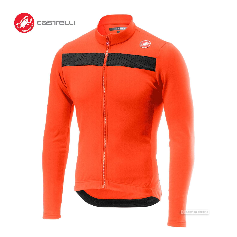 Neu Castelli Puro 3 Langärmelig Fahrrad Trikot  Orange