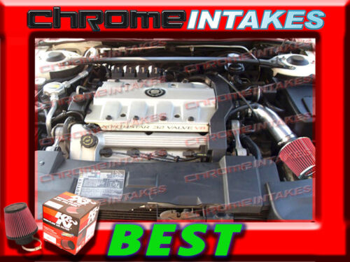 K/&N+BLACK RED 93 94//1993 1994 CADILLAC ELDORADO 4.6 4.6L V8 AIR INTAKE KIT