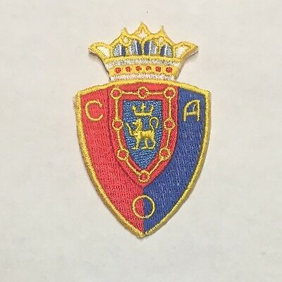 """REAL MADRID  SOCCER FOOTBALL IRON-ON PATCH CREST BADGE..2 1//4/""""X 3/"""" IN."""
