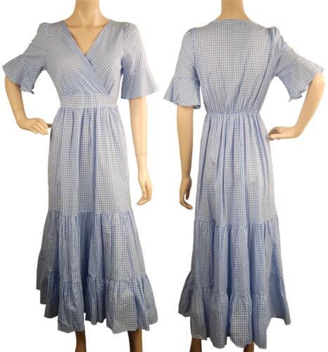 London Blue Vintage Check Conmigo Maxi A0084 White Dress And Inspired FIwqx7adx