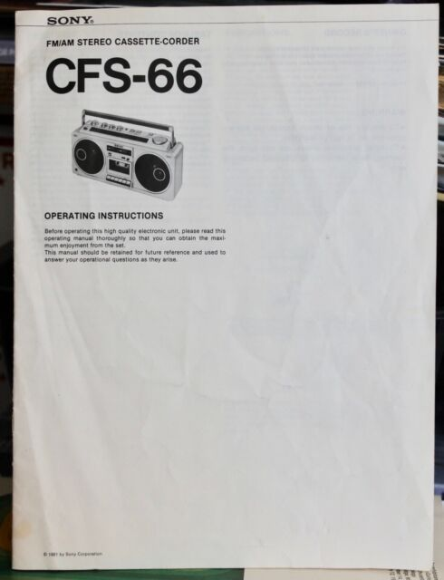 Sony Cfs