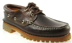 Details zu TIMBERLAND 6500A TFO CLASSIC 3 EYE LUG MEN'S BROWN LEATHER BOAT SHOES
