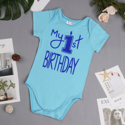Infant Baby First Birthday Romper Girls Boys Cake Smash Bodysuit Party Outfit