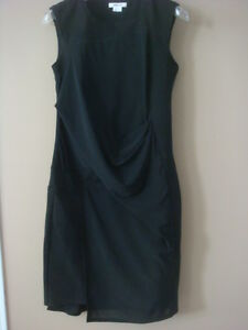 740c5203ad2e $425 Helmut Lang Little Black Dress with Sheer Panels Size P | eBay