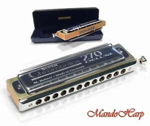Hohner-Chromatic-Harmonica-Super-Chromonica-270-Deluxe-12-hole-48-reed-NEW
