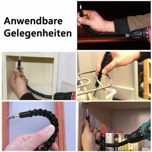 DOMOM Flexible Bithalter Bohrwerkzeug Weiche Welle Schraube Verbindung 30CM
