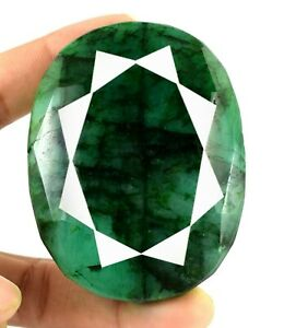 Green Emerald Oval Cut Loose Gemstone 665 Ct Brazilian Natural Festive Sales