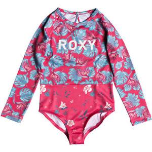 ce31ff53d Roxy Mermaid LS One-Piece Girls Rash Guard Swimsuit - Rouge red