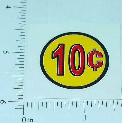 3 Three Generic 5 Cent Coin Vend Stickers     V-16-5