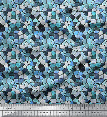 Foulard Stoff Mosaik Orange 280x100  NEU