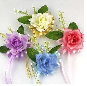 4pcs Wedding Bridal Bridesmaids Corsage Wrist Flower i