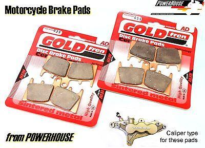 /> FULL SET SINTERED HH BRAKE PADS *GOLDFREN* 2002-2003 SUZUKI GSF 600 BANDIT