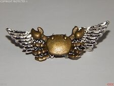 steampunk badge brooch wings crab shellfish beach Abzeichen Brosche larp cosplay