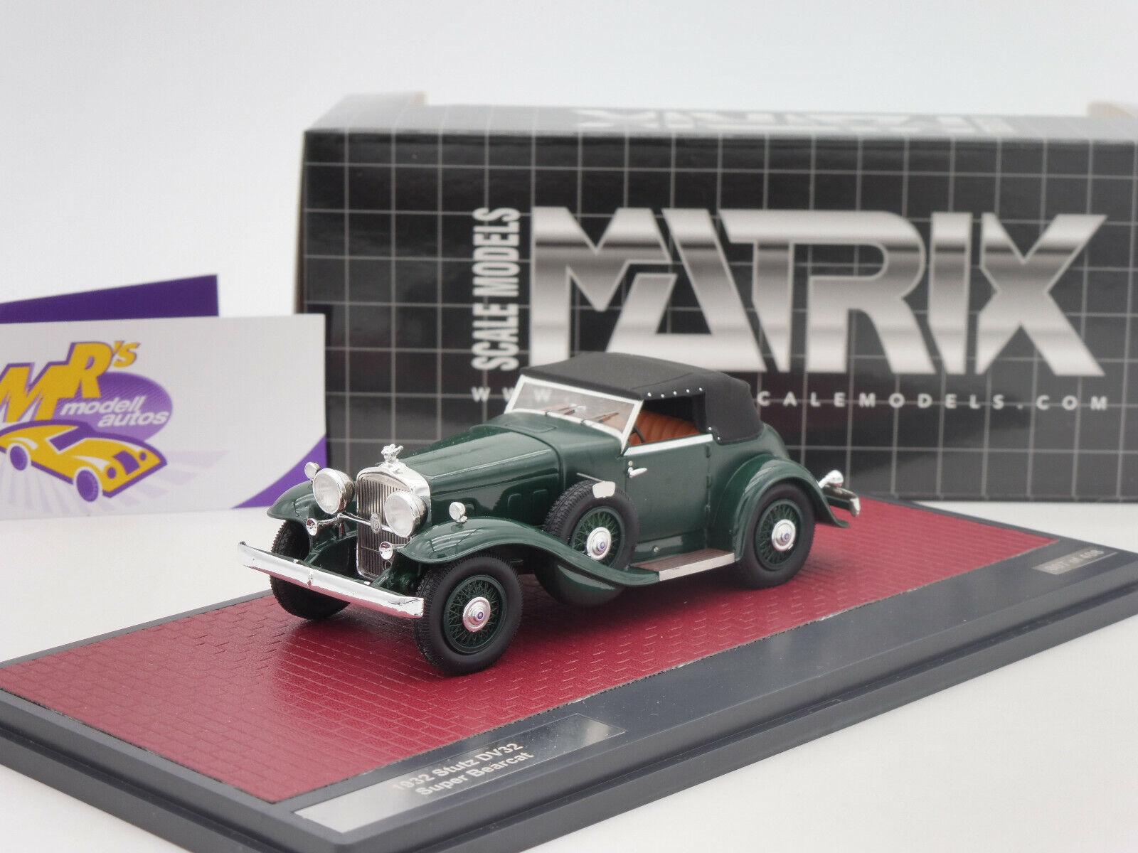 Matrix 41804-072   Stutz DV32 Super Bearcat geschlossen  Bj. 1932   grün   1 43