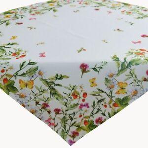 Tischdecke 85 X 85 Cm Mitteldecke Ostern Fruhling Weiss Bunt Blumen