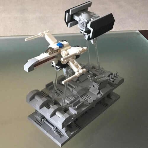 Bricks Star Wars MOC trench run X-Wing Tie-Fighter beweglich Lego