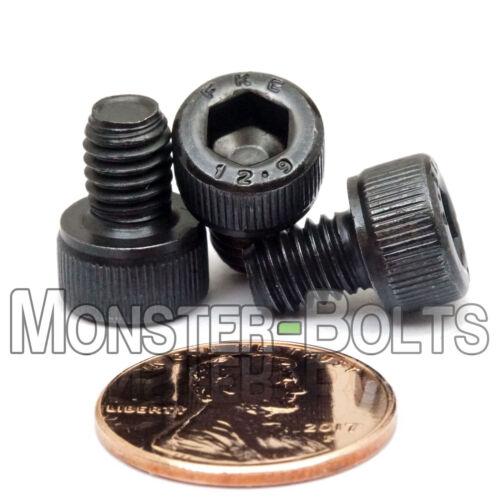 SOCKET Cap Screws Alloy Steel 12.9 DIN 912 Black Oxide M6 x 8mm Qty 10 6mm