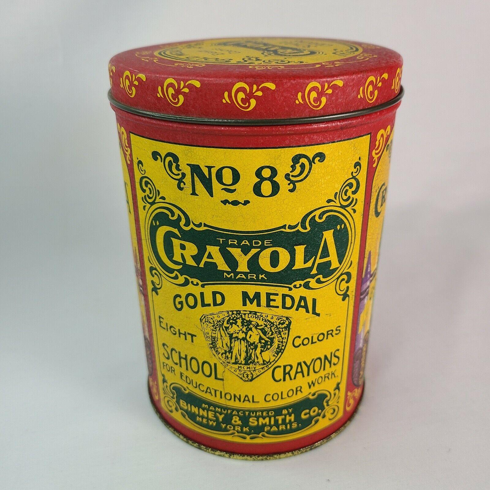 "Binney /& Smith 1903 Crayola Gold Medal School Crayons Replica Magnets 3.5/"" 2"