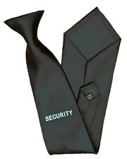 Black Security Clip On Tie for Professional Officers