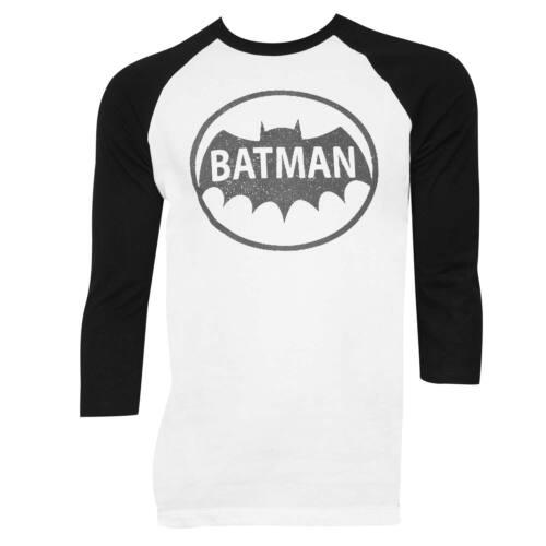 Batman Raglan Sleeve Tee Shirt Blanc
