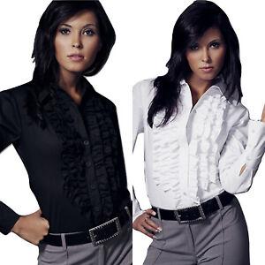 da6f63c4a1d Chemisier chemise jabot noire blanche haut femme Nife K01 original ...