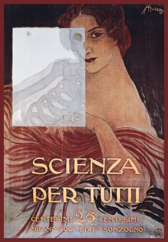 Decorative POSTER.Home Room interior art design.Scienza per Tutti.Science.7838