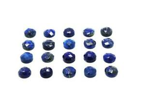 Round-Natural-Lapis-Lazuli-Faceted-Bulk-Cabochon-Blue-Stone-Wholesale-Gemstone