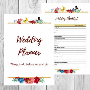 photograph about Printable Wedding Planning identified as Data with regards to Printable Marriage ceremony Planner - Creating Package and Checklists with Personalized Go over