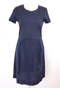 COS-Shift-Dress-Navy-Blue-Cotton-Cupro-T-Shirt-Lagenlook-Work-Career-Office-XS-8