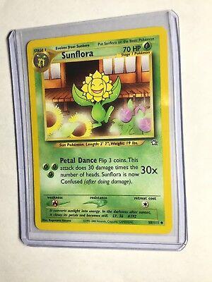 50//111 NEAR MINT Pokemon 1st Edition Neo Genesis Sunflora Uncommon