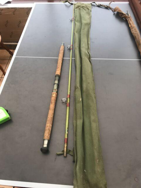 Black Seal (Mordex) 9' Split Cane Vintage Fishing Rod. Excellent Condition!