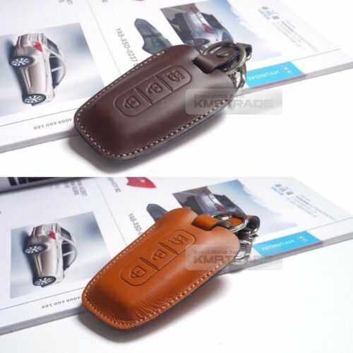 Promotion Natural leather Key Case Holder for HYUNDAI 14-16 Grand Santa Fe XL