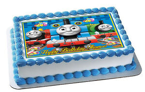Thomas-Train-Nr2-Edible-Cake-Topper-OR-Cupcake-Topper-Decor