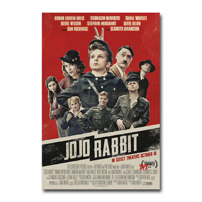 JoJo Rabbit Movie Poster Taika Waititi Art Silk Canvas Film Poster Print 24x36/'/'